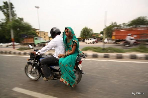 jazda motorem w indiach