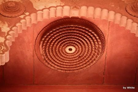 Govind Deo Temple - rozeta na suficie