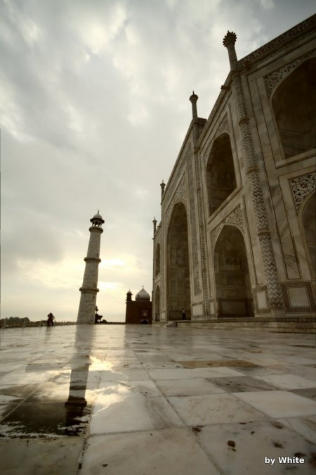 Taj Mahal - od Yamuna River