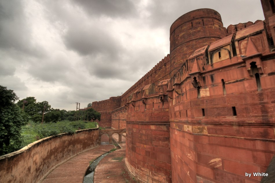 Agra Fort - fosa