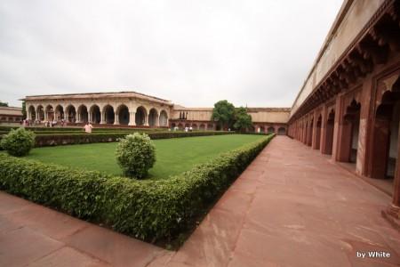 Agra fort - dziedziniec