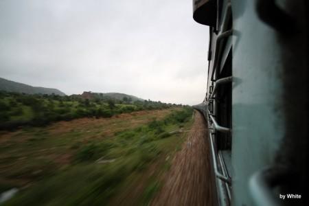 Widok z Indyjskiego pociągu